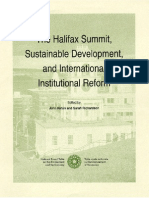 The Halifax Summit, Sustainable Development, and International Institutional Reform