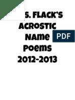 Mrs. Flack's Acrostic Name Poems