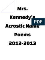 Mrs. Kennedy's Acrostic Name Poems