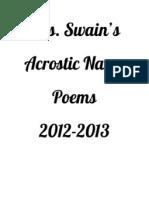 Mrs. Swain's Acrostic Name Poems
