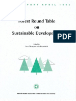 Forest Round Table on Sustainable Development  Final Report - April 1994