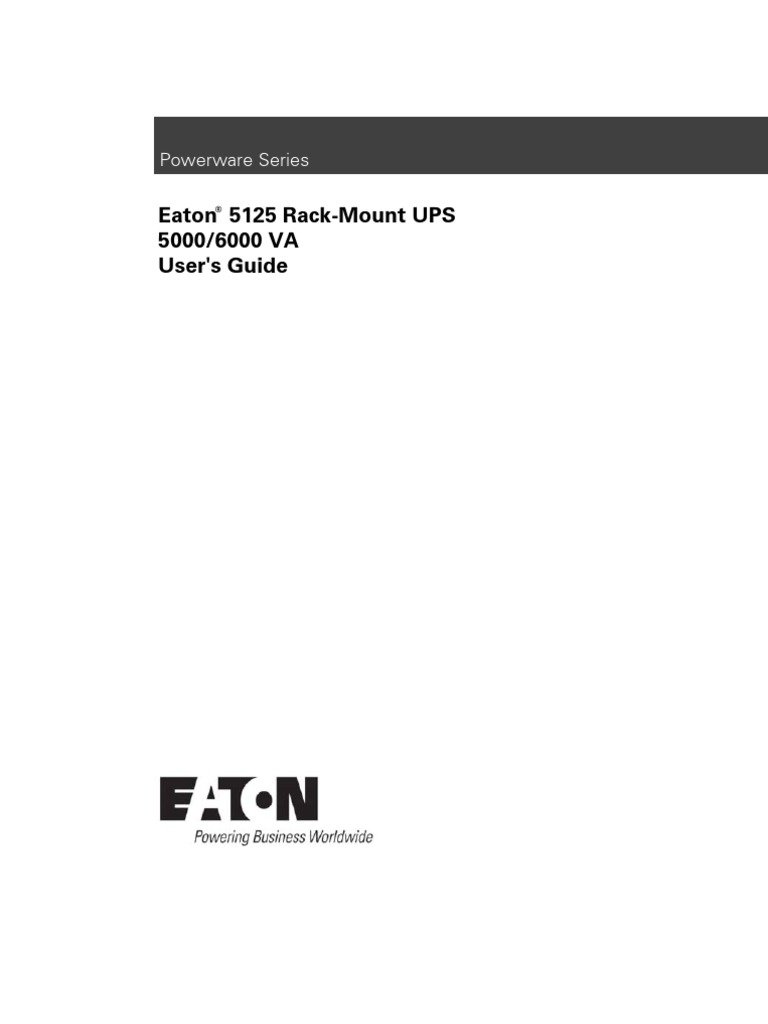 Eaton 5125 Rm Ups | Electromagnetic Interference | Electrical Wiring