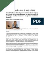 México da empleo pero de mala calidad