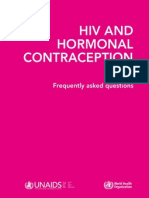 HIV and Hormonal Contraception