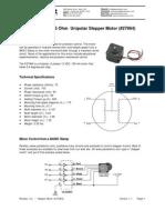 12 Volt Unipolar Stepper Motor
