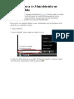 Ativando Conta de Administrador No Windows Vista