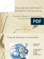 LA TOMA DE DECISIONES Y LA INDECISIÓN VOCACIONAL