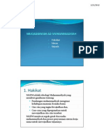 Muqaddimah Anggaran Dasar Dan Kepribadian Muhammadiyah