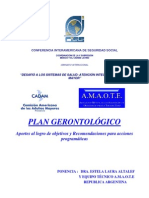 Aportes Para Plan Gerontol Gico Texto