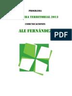 Programa Ale Fernandez CT Comunicaciones NAU