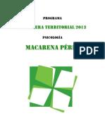 Programa CT Maca Pérez NAU