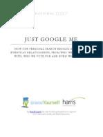 JUST GOOGLE ME - BrandYourself & Harris National Study