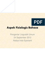 Aspek Fisiologis Bahasa