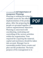 Definition and Importance of Manpower Planning