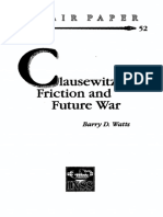 Clausewitzian Friction and Future War - Barry d. Watts - Oct96