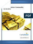 Daily Commodity Report 15-10-2012