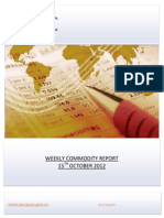 WEEKLY COMMODITY REPORT BY EPIC RESEARCH- 15 OCTOBER 2012