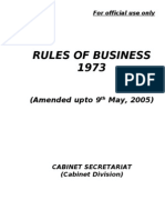 Rules of Business 1973 Ammended Upto 12 May, 2005