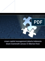 Crown Capital Management Jakarta Indonesia Giant Mammoth Carcass
