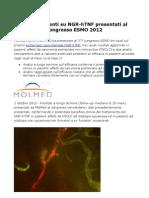 MOLMED presenta aggiornamenti su NGR-hTNF al congresso ESMO 2012