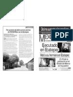 Versión impresa del periódico El mexiquense 15 de octubre 2012
