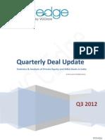 VCCEdge Quarterly Deal Update - Q3 2012
