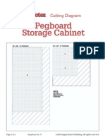 77 - Cutting Diagram - Pegboard Storage Cabinet