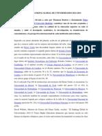 Ranking Mundial Universitario 2012-2013