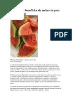 Conheça os benefícios da melancia para a vida sexual