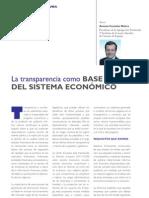 La transparencia como base del sistema económico