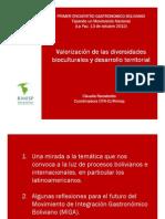 C. Ranaboldo, Valorización de la diversidad biocultural y desarrollo territorial