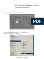 ANSYS Workbench 13 Tutorial - 2D Meshing with prism layers (or boundary layers) on wall boundaries
