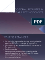 Intracoronal Restorations in Fpd