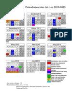 Calendari escolar 2012-13