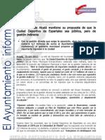 DEPORTES Pleno Ciudad Deportiva Espartales