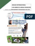 Guide Pedagogique 2012 2013 Du Florilege International Des Ecrivains en Herbe de Langue Francaise
