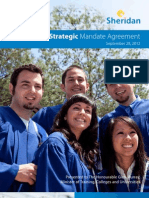 Ontario - Institutional Vision, Proposed Mandate Statement and Priority Objectives - Sheridan College Institute of Technology and Advanced Learning