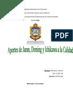 Aportes Deming Juran Ichikawa +Calidad