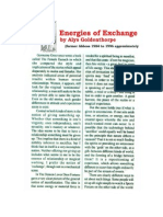 Energies of Exchange