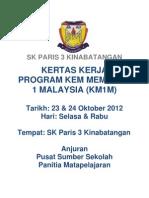 Kertas Kerja Program Kem Membaca 1 Malaysia Tahun 2012