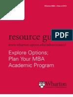 Wharton's MBA Resource Guide 2011-2012