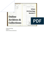 Urban Archaeology Session 2 Online Archives
