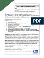 Perfil de Electricistra de 3ra Categoria UDB