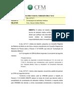 Atestado Médico - PARECER CFM nº 10/12