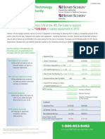2012 Dental Equipment & Technology Tax Savings Opportunity