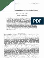 Analysis of Shear Banding in Twelve Materials