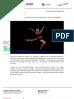 14-10-12 Boletin 685 Festeja Ballet de Montreal Aniversario Del Teatro Del Pueblo