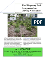 Kingsway Park Ratepayers Association Newsletter Fall 2009