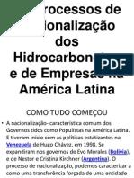 GEO - Hidrocarbonetos na América Latina