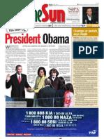 TheSun 2009-01-21 Page01 President Obama